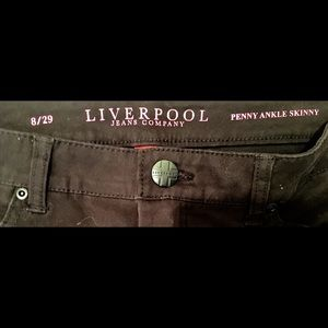 LIVERPOOL Jens Company PENNY ANKE SKINNY Blk Pant